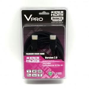 สาย HDMI Version 2.0 UHD ความยาว 3 เมตร by Vpro